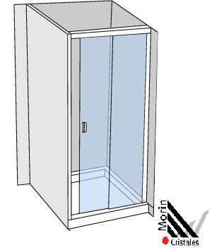 Box Frontal Corredizo 2 Hojas (1 Fijo + 1 Corredizo)